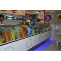Stainless Steel Rectangular Chaat Counter, For Sancks & Sweet