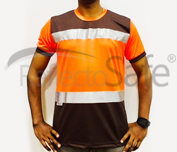 Reflective High Visibility T Shirts With 3M Scotch Lite Tape (Round Collar - Aromatic)