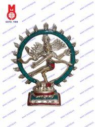 Natraj Dancing W/Stone Work Statues