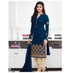 Designer Embroidered Straight Suits