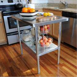 Kitchen Tables and Trolley Stainless Steel Kitchen Table