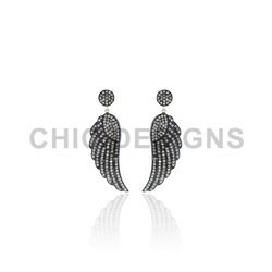 Diamond Angle Wings Earrings