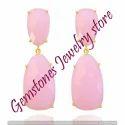 Rose Quartz Gemstone Earrings