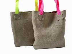 Cane Handle Jute Beach Bags