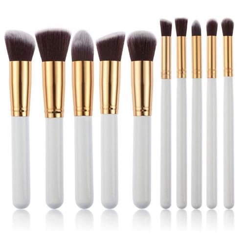 Beauty and Makeup Products - 10 Piece Kabuki Makeup Brush Set Logo