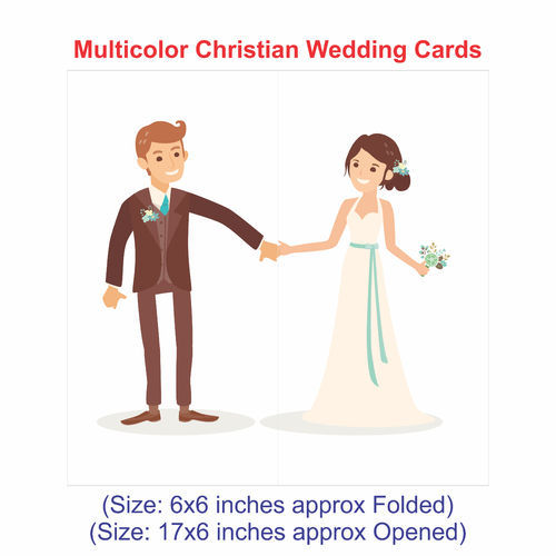 Wedding Invitation Cards Multicolor Christian Wedding Cards