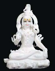 White Makrana Marble Shiva Statue