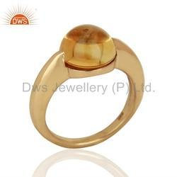 Rose Gold Plated Gemstone Ring
