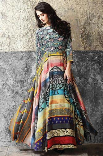 28679c892c Gown - Maslin Cotton Digital Print Gown for Women Wholesale Trader ...