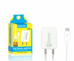 Toops Tp-413 2.0 amp 1 USB Adapter with Cable