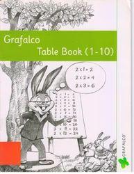 Grafalco 1 to 10 Table Book