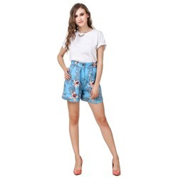 Floral Print Shorts For Ladies