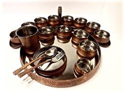 Smokey Finished Grand Maurya Thali Set