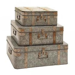 Galvanized Decorative Trunk