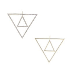 Triangle Gold Charm Pendant