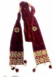 Velvet Stole For Groom - Dupatta For Sherwani