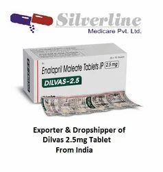 Dilvas 2.5mg Tablet