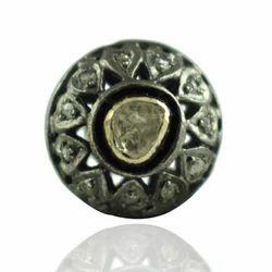 Rose Cut Pave Diamond Ball Beads