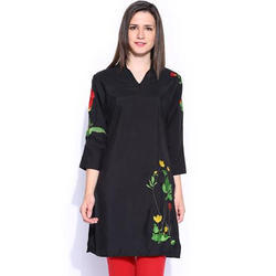 Ira-Soleil-Womens-Ethnic-Black-Polyester-With-Embroidery