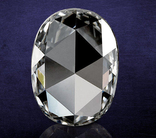 Rose Cut Diamond Natural Oval Shape Rose Cut Diamonds