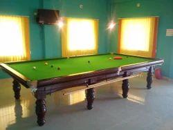 Green Color Billiard Table
