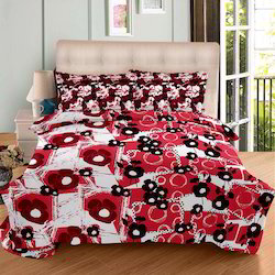 Always Plus Red, Green, Brown Cotton Double Bedsheet