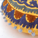 Circular Embroidered Cushion