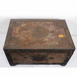 4''x6'' Teak Wood Marble Painting Box