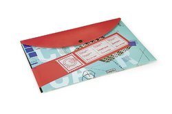 Offset Ticket Patterns Clear Bags