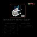 OBASIX Whiteboard Marker & Duster Holder - White