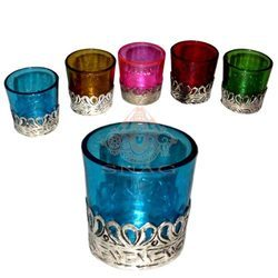 White Metal Candle Stand