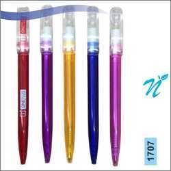 Plastic Twist Transparent Pen with Clear Cap