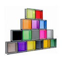Colorful Glass Blocks