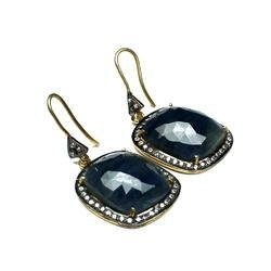A Beautiful Grey-Sapphire Sliced Earring