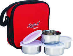 Soft Pouch with Steel Lunch Box(Square)