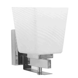 Jainsons Emporio White Glass Upward Square Wall Light