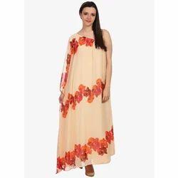 Floral Print Ladies Kaftan Dress