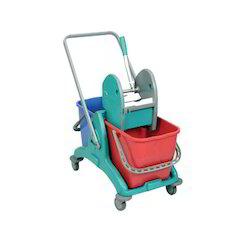 Double Bucket Mop Trolley