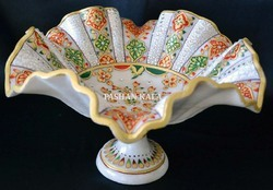 Marble Gold Painting Fruit Bowl