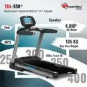 Powermax TDA-550 Motorised Treadmill with 400m Track UI