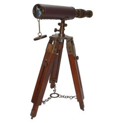 Brass Wooden Telescope Stand