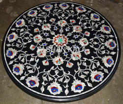 Marble Inlay Mother Of Pearl Table Top
