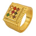 Navratan Chauki Design Ring
