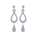 Designer Infinity Drop Dangle Earrings