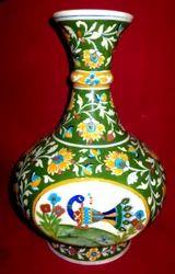 Blue Pottery Flower Pot