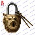 Lock W/Keys Lion Face Design