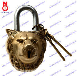 Lock W/Keys Lion Face Design