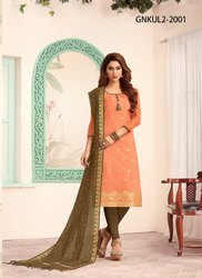 Banarasi Jacquard Dupatta Suit
