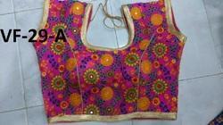 Pink Embroidered Banglori Silk Stitched Blouse