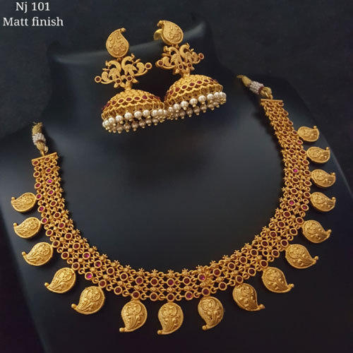 Wedding Wear Bridal Gold Necklace Set Rs 150000 Set: Wedding Necklace Set Wholesale Trader From